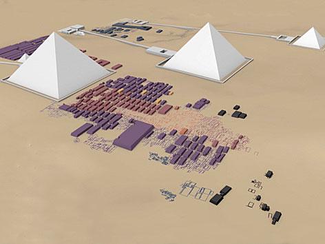 Digitales Panoramabild der Pyramiden