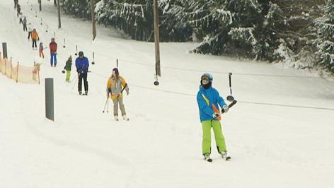 Schifahrer auf der Piste