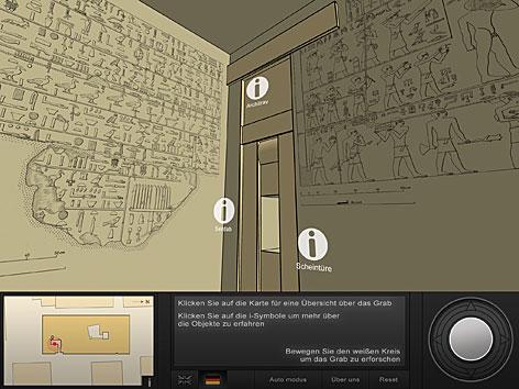 Virtueller Rundgang durch ein Pharaonengrab