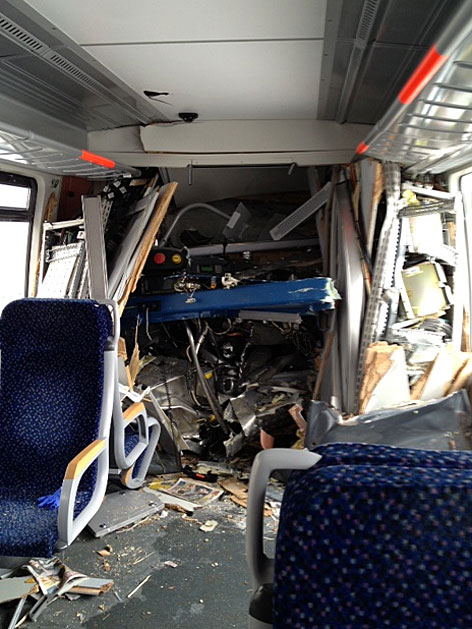 In Wien-Penzing sind Montagfrüh zwei Züge der Vorortelinie S45 zusammengestoßen