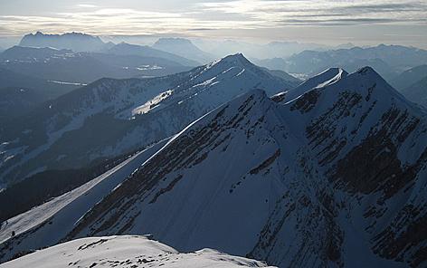 hirscheck heutal sonntagshorn chiemgauer alpen unken skibergsteigen skitouren