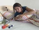 Grippekranke im Bett