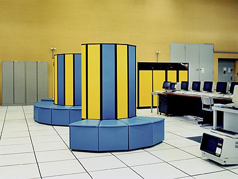 Fotografie von Lewis Baltz Cray supercomputer, CERN, Geneva, 1989-91