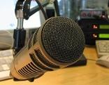 Mikrofon im Studio von Radio Salzburg