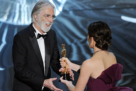 Haneke nimmt Oscar entgegen