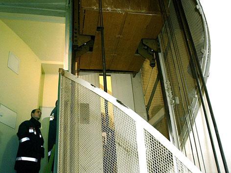 Aufzug in Wien