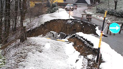 Erdrutsch in Neuhaus am Klausenbach