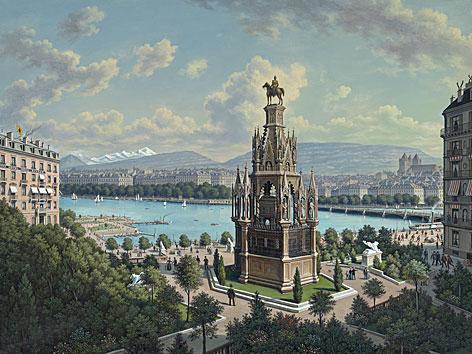 HIstorische Ansicht von Genf