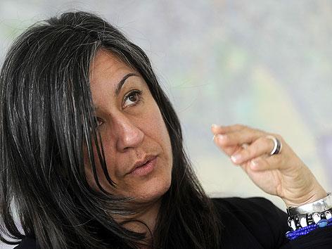 Verkehrsstadträtin Maria Vassilakou bei APA-Interview