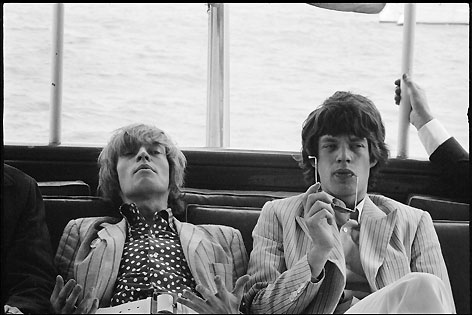 Brian Jones und Mick Jagger, New York
