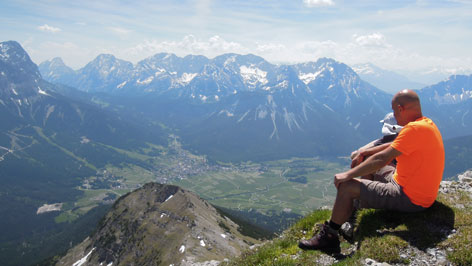 Blick vom Berg zu Tal