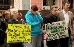 Abschiebung von Lamin Jaithe und Protest dagegen