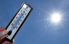 Hitze Sonne Thermometer Sommer heiß