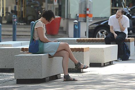 Sitzbänke auf der Mariahilfer Straße