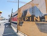 Baustellenabsperrung der Firma Alpine