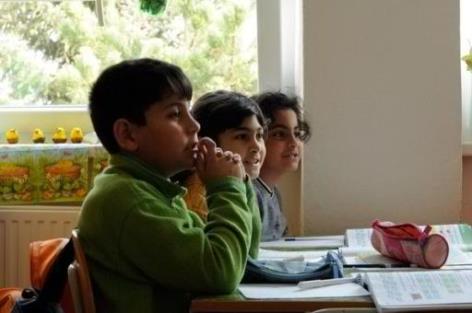 Slowakische Roma Kinder Schule