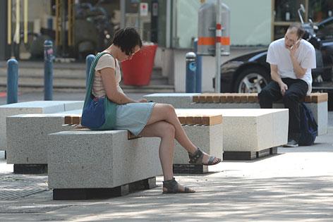 Sitzmöbel in der Mariahilfer Straße