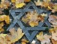 Davidstern auf dem jüdischen Friedhof im deutschen Erfurt