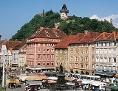 Stadtansicht Graz mit Uhrturm