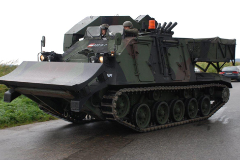 Bundesheerpanzer im Einsatz