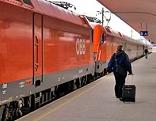 Fahrgast auf Bahnsteig