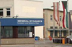 Steyr-Werk, Tochter des US-Waffenkonzerns General Dynamics (GD), in Wien-Simmering