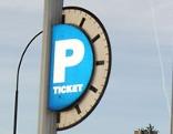 Parkgebührenschild