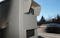 Radarkasten an Straße