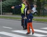 Schüler auf dem Schulweg