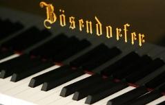 Schriftzug Bösendorfer auf einem Klavier