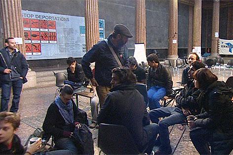 Flüchtlinge in Akademie der Bildenden Künste