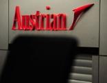 Check-in-Schalter am Check-in 3 / Skylink / Logo Austrian Airlines