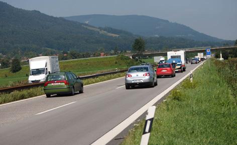 Autobahn in Bayern - Großes Deutsches Eck