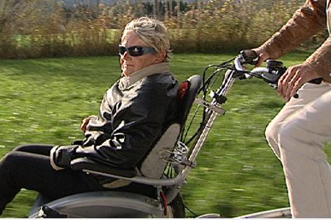 Rollstuhl Tandem Fahrrad
