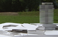 Modell der Therme St. Martin bei Lofer samt Hotel