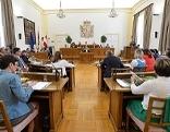 Der Salzburger Landtag bei einer Sitzung im Chiemseehof