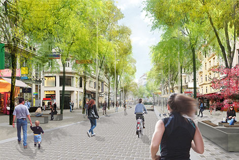 Grafik Mariahilfer Straße, Zieglergasse