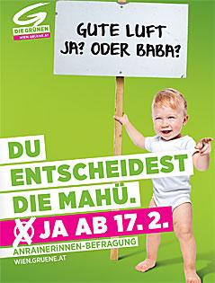 Kampagne Grüne Wien für Fußgängerzone