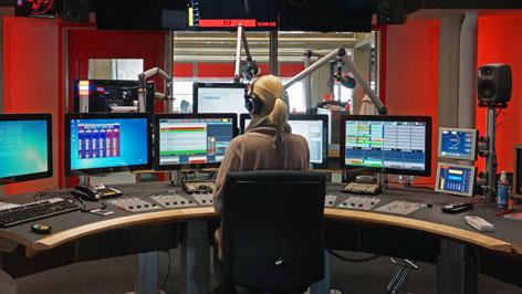 DJ Platz und Studio von Radio Oberösterreich
