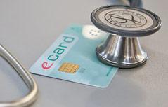 E-Card und Stetoskop