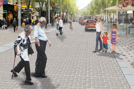 Modell neue Mariahilfer Straße