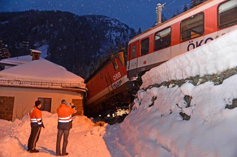 Abgestürzte Lokomotive