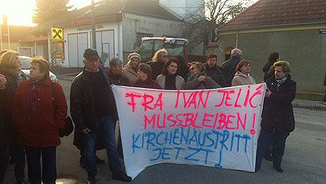 Demonstration für Pfarrer