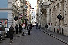 Bäckerstraße in der Wiener Innenstadt