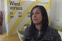 Verkehrsstadträtin Maria Vassilakou bei ORF-Interview