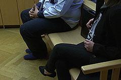 Angeklagte im Prozess wegen illegalen Welpenhandels