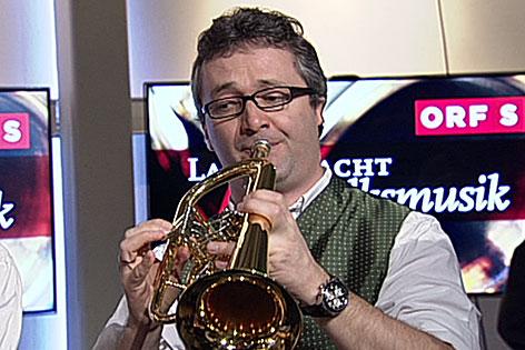 Musiker bei der Langen Nacht der Volksmusik im ORF Landesstudio Salzburg