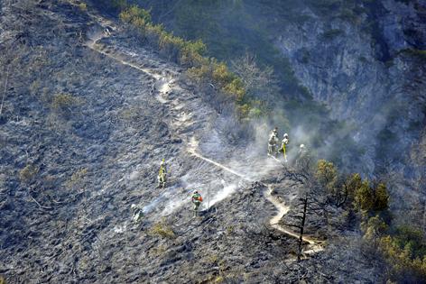 Brandausmaß Waldbrand