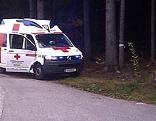Rettungswagen am Waldrand