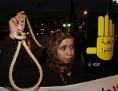Aktivistin gegen die Todesstrafe in der marokkanischen Hauptstadt Rabat, im Oktober 2013